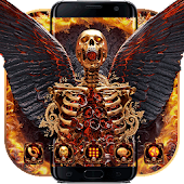 Hell Fire Skull Android APK Download Free By Cool Theme Love