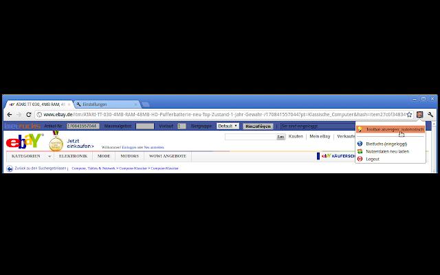Bietfuchs Toolbar für Google Chrome