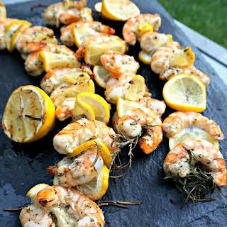 Rosemary Lemon Shrimp Skewers.
