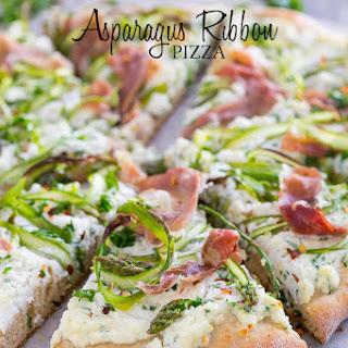 Asparagus Ribbon Pizza Recipe