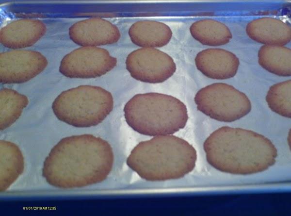 Tip: Bake a tad bit longer for crispier cookies.