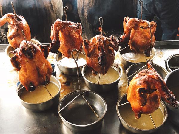 南投美食!福伯脆皮黃金雞 紫南宮路上必吃福氣滿滿金雞