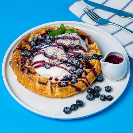 Blueberry Crumble Waffle