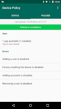 Android Device Policy