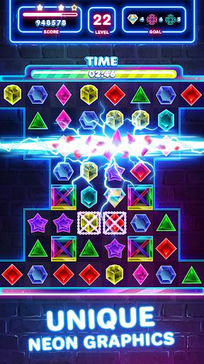 Jewels Quest 2 - Glowing Match 3 1.0.0 screenshots 1