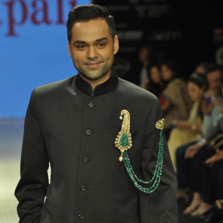 Actor Abhay Deol wearing an Amrapali emerald and kundan