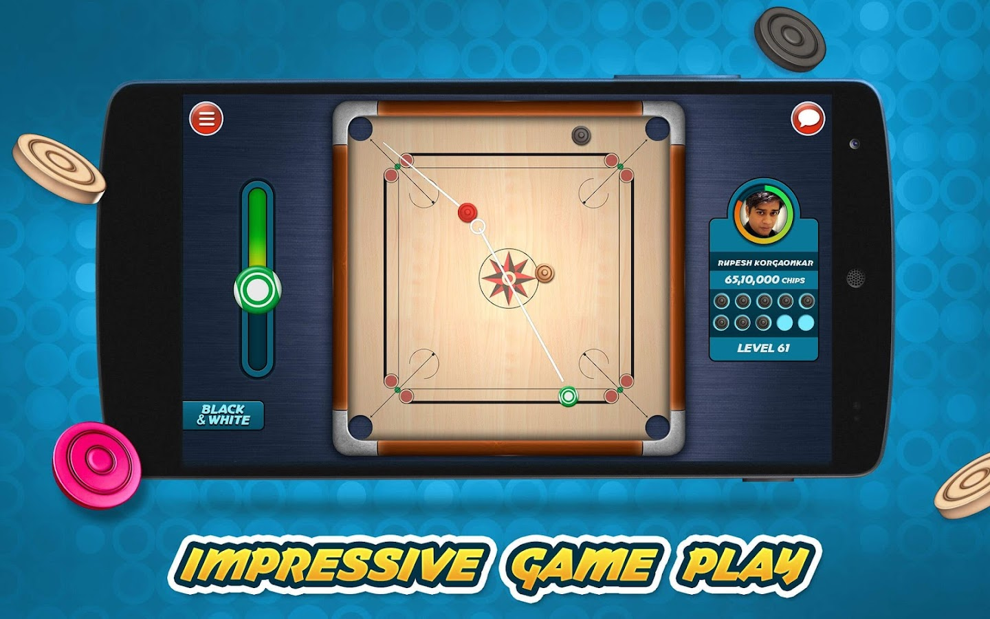 Carrom Live- screenshot
