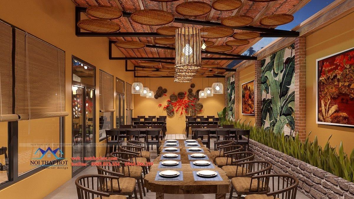 thiết kế nhà hàng đồng quê 3