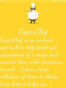 Super Chef- A food recipe Hub Screenshot