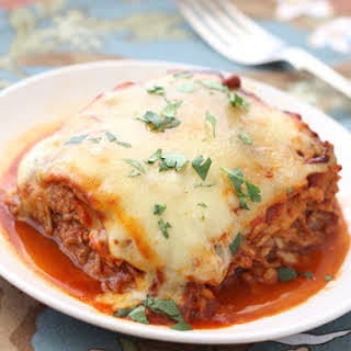 Pulled Pork Enchiladas with Red Chile Sauce.