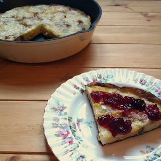 Brie and Cranberry Christmas Frittata