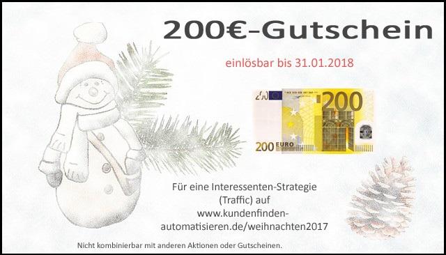 200€-Gutschein für Traffic-Strategie