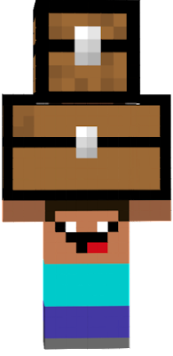 Steve that carry two chests with derp face on the neck