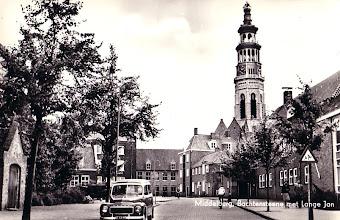 Photo: Middelburg - Bachtensteene met Lange Jan