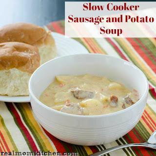 Slow Cooker Sausage and Potato Soup.
