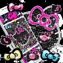 Kitty Black Diamond Bowknot Sweet Princess Theme icon