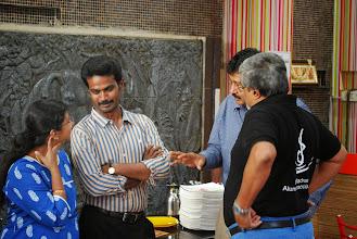 Photo: Aalayam Kandaen Padma Priya and her husband Baskar, Sankar and Babu