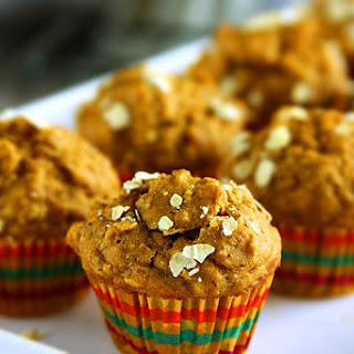 Healthy Banana Oatmeal Muffins.