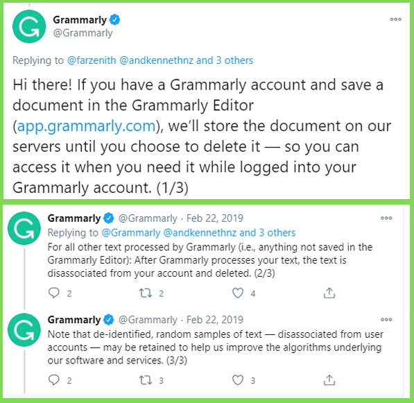 grammarly twitter post