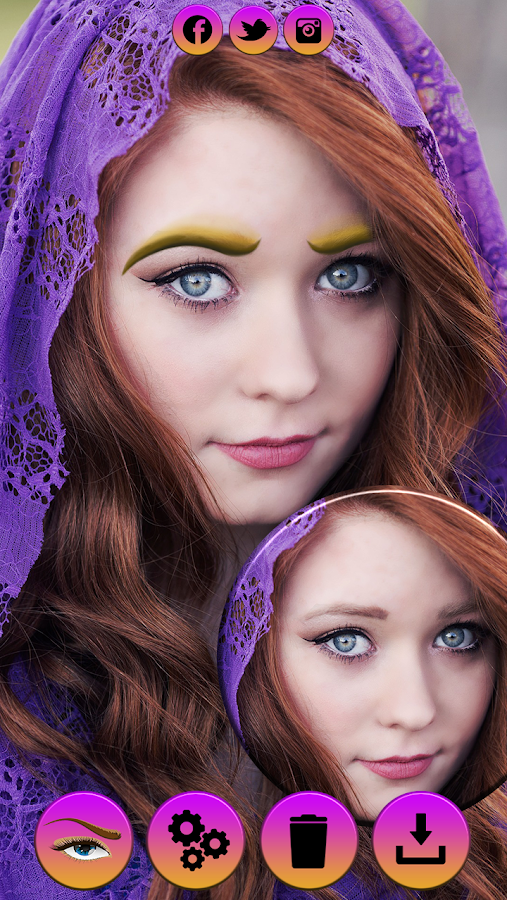 Perfect Eyebrow Shaper - Photo Editor For Eyebrows - Android Apps ...