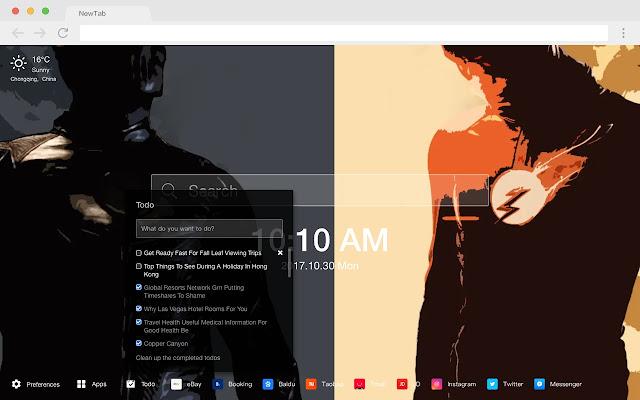 Flash Popular Wallpapers HD DC New Tabs Theme