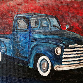 Vintage Pickup Truck by Raymond Paul - Illustration Products & Objects ( automotive, american steel, iconic, pickup, vintage, truck, american, auto, historic, vintage pickup truck, horsepower, american muscle )