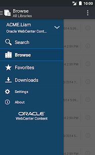 Oracle WebCenter Content- screenshot thumbnail