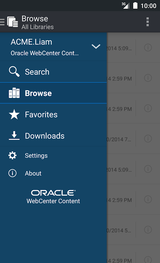 Oracle WebCenter Content- screenshot