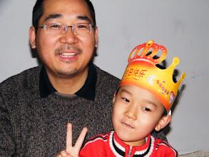 Photo: 父子情深:朱子卓和朱楚甲. dad&son, benzrad&warrenzh, owner of warozhu.com.