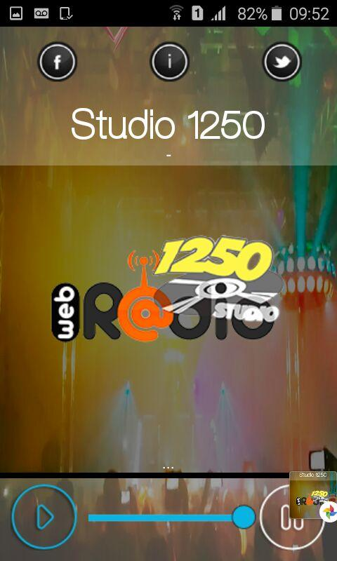 Web Radio Studio 1250- screenshot