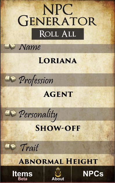 Non-Player Cards- screenshot