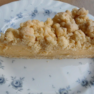 German Streusel Cake with Vanilla Pudding.