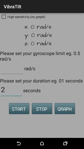 VibraTilt - Accel Gyro App