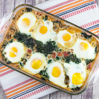 Baked Eggs in Spinach