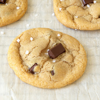 Vegan Salted Chocolate Chip Cookies.