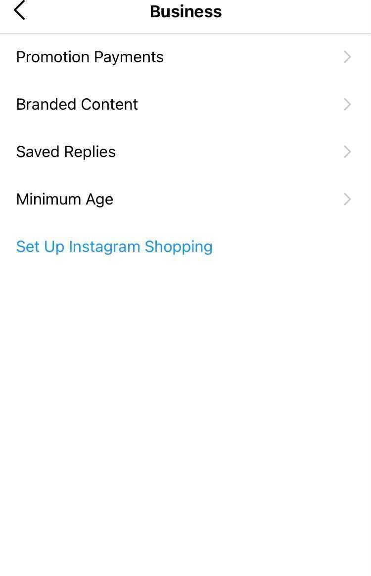 setting up instagram shopping