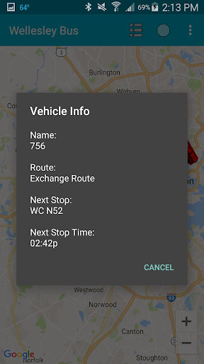 Wellesley College Bus Tracker ss3