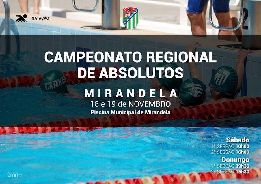 Sporting Clube de Lamego - Campeonato Regional de Absolutos - Mirandela - 18 e 19 de novembro