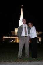 Photo: Us outside of the Orlando Florida Temple