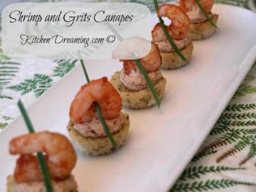 "Shrimp and Grits Canapes ""We've decided to recreate that recipe into an..."
