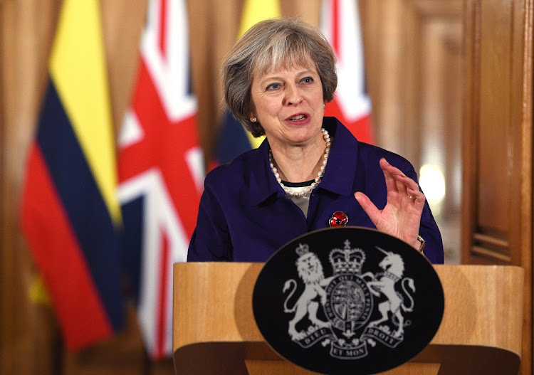 Theresa May. Picture: EPA/FACUNDO ARRIZABALAGA