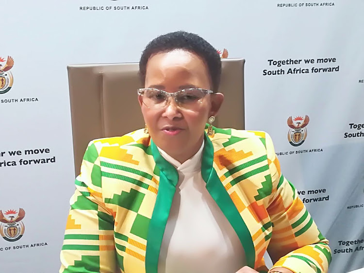 Minister of Sport and Recreation Tokozile Xasa.