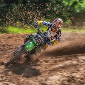 Mudding! by Lynn Wiezycki - Sports & Fitness Other Sports ( mud, motocross, sports, motorcycle )