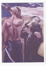 """Photo: Olej na płótnie o wym. 70 x 90 cm. Marek Luzar, 2002 r.  Bielsko-Biała, Wystawa """"Patroni Europy w sztuce"""". fot. jg"""