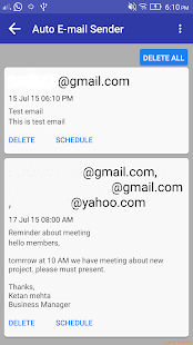 Auto E-mail Sender- screenshot thumbnail