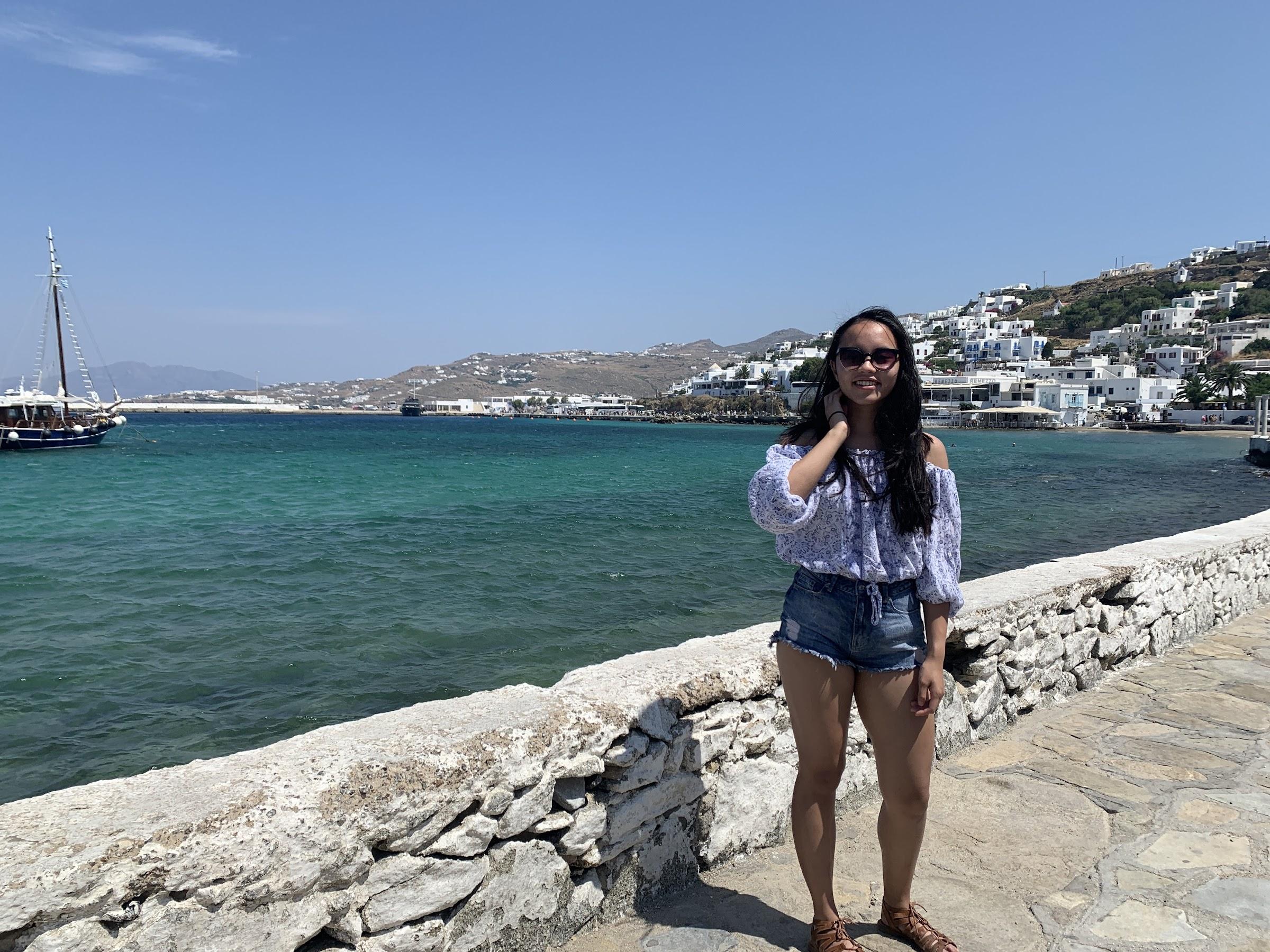 Me in Mykonos Town