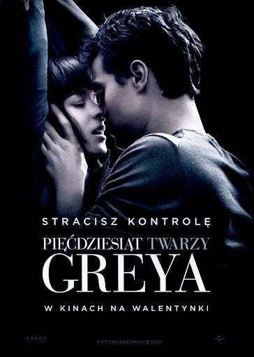 Przód ulotki filmu 'Pięćdziesiąt Twarzy Greya'