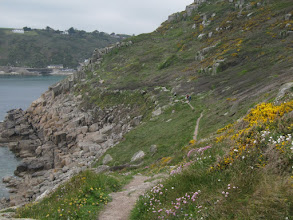 Photo: approaching Lamorna ...