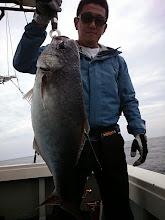 Photo: メダイキャッチでした! ぬるぬるしてますが美味しい魚です!