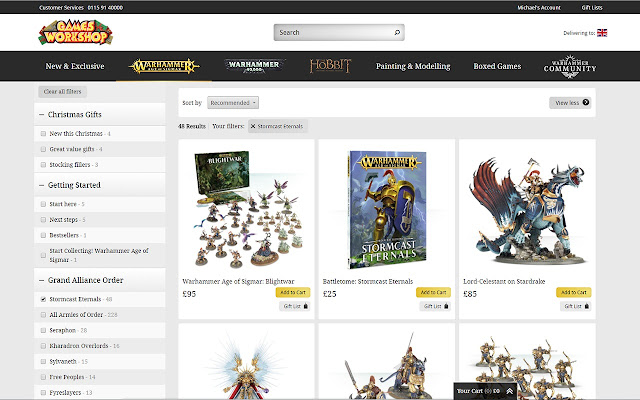 My Games Workshop Webstore